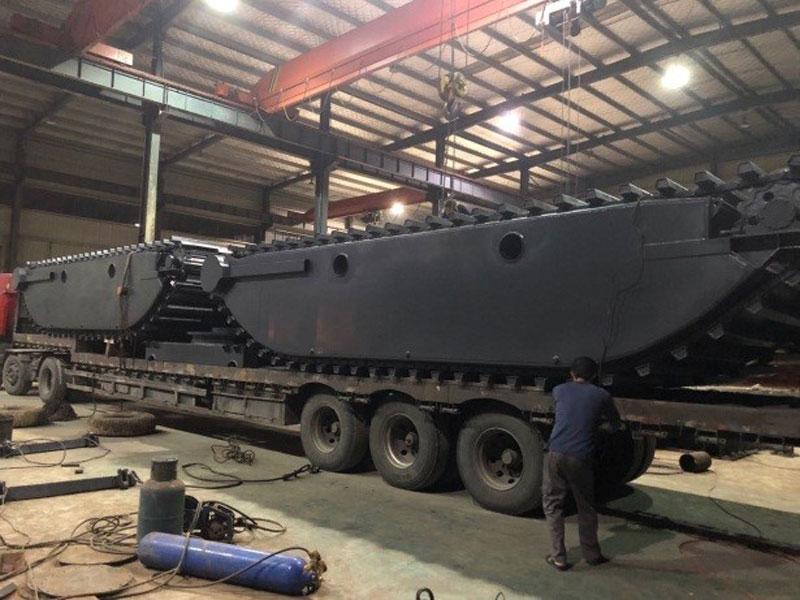 标准型两栖浮箱-水陆挖掘机浮箱改装