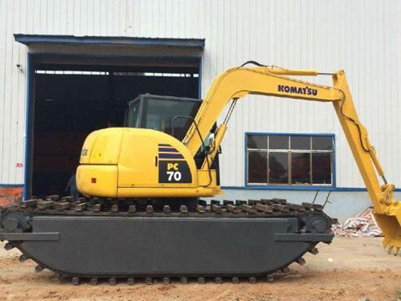 小松PC70标配8吨级水陆挖掘机浮箱